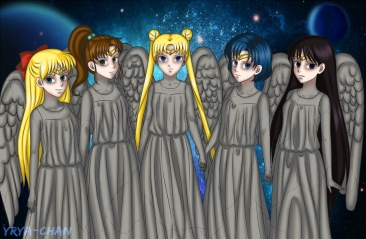 Sailor Moon meets Weeping Angels