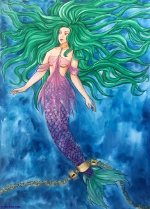 #mermay #mermaid #sirene #watercolor
