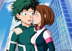 #bokunohero #bnha #myheroacademia #dekuxochako #ochako #deku #kiss