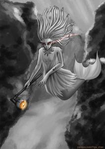 #mermay2019 #mermay #mermaid #seawitch #witch monochromeart