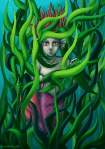#mermay #mermaid #fantasyillustration #kelp